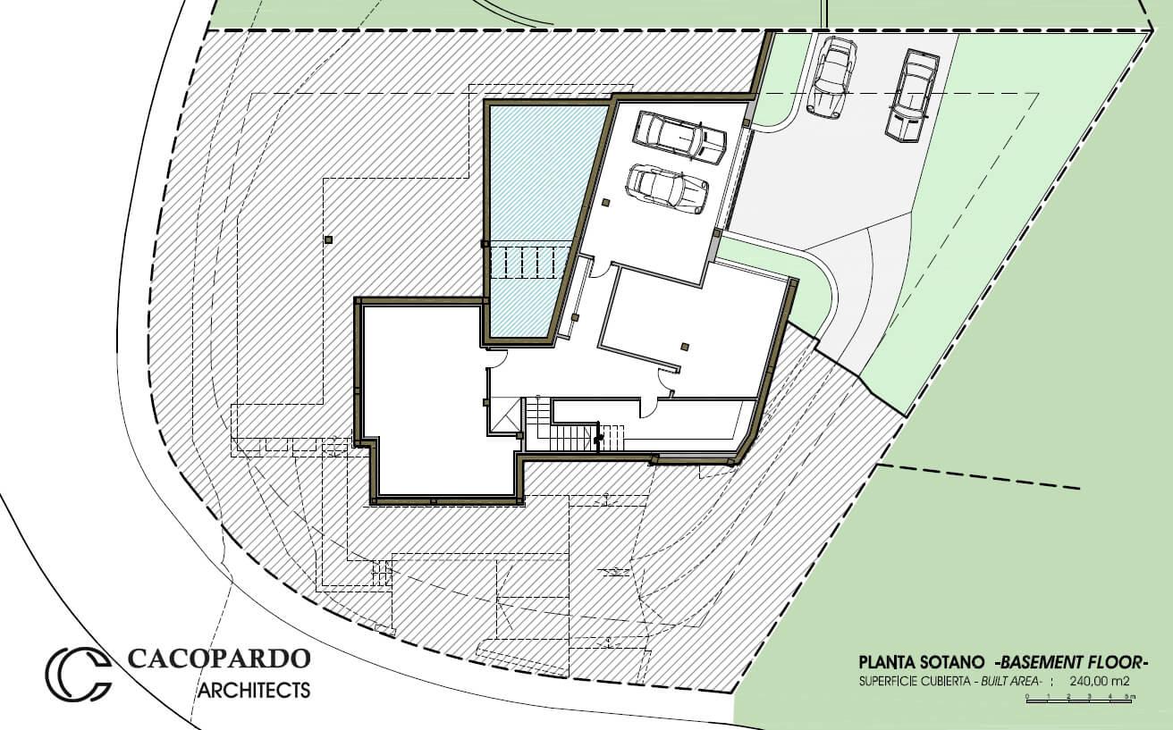 Planta Sótano, Diaphanous House, Marbella, Costa del Sol