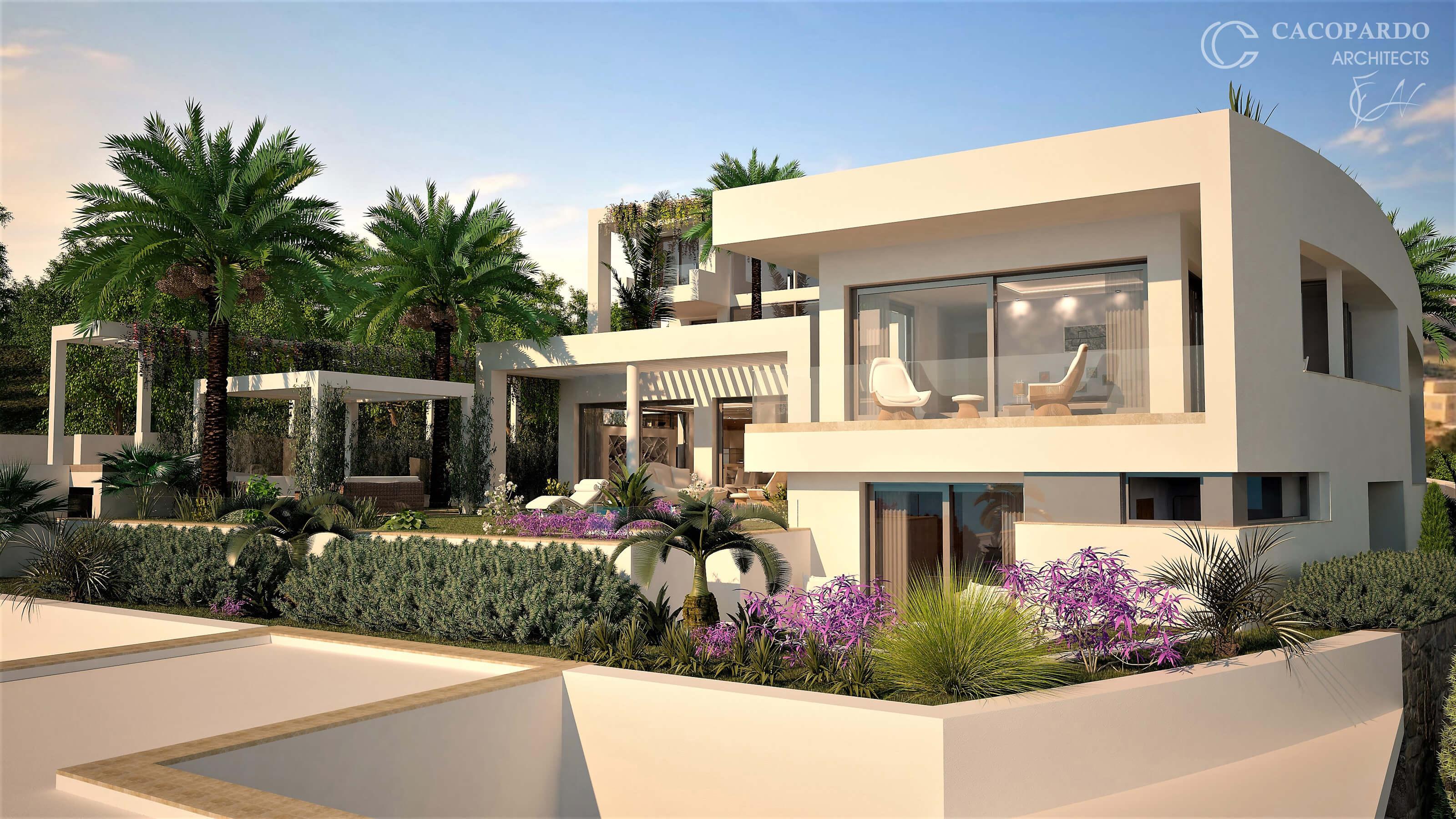Vista del Jardín-Villa 2-Urbanización Monteromero, La Cala de Mijas-Costa del Sol