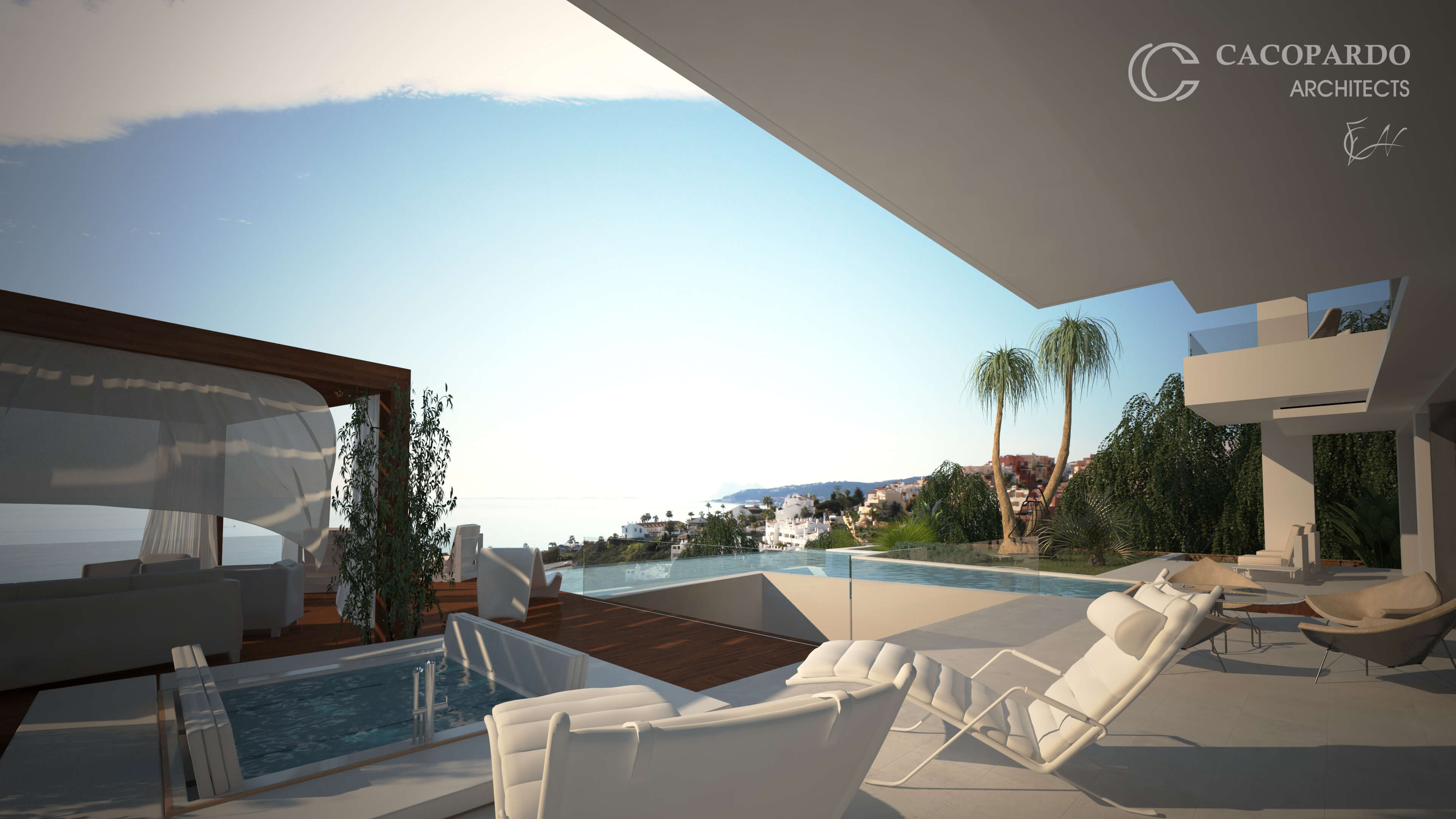 Vista desde el porche -Infinitum House- Costa del Sol