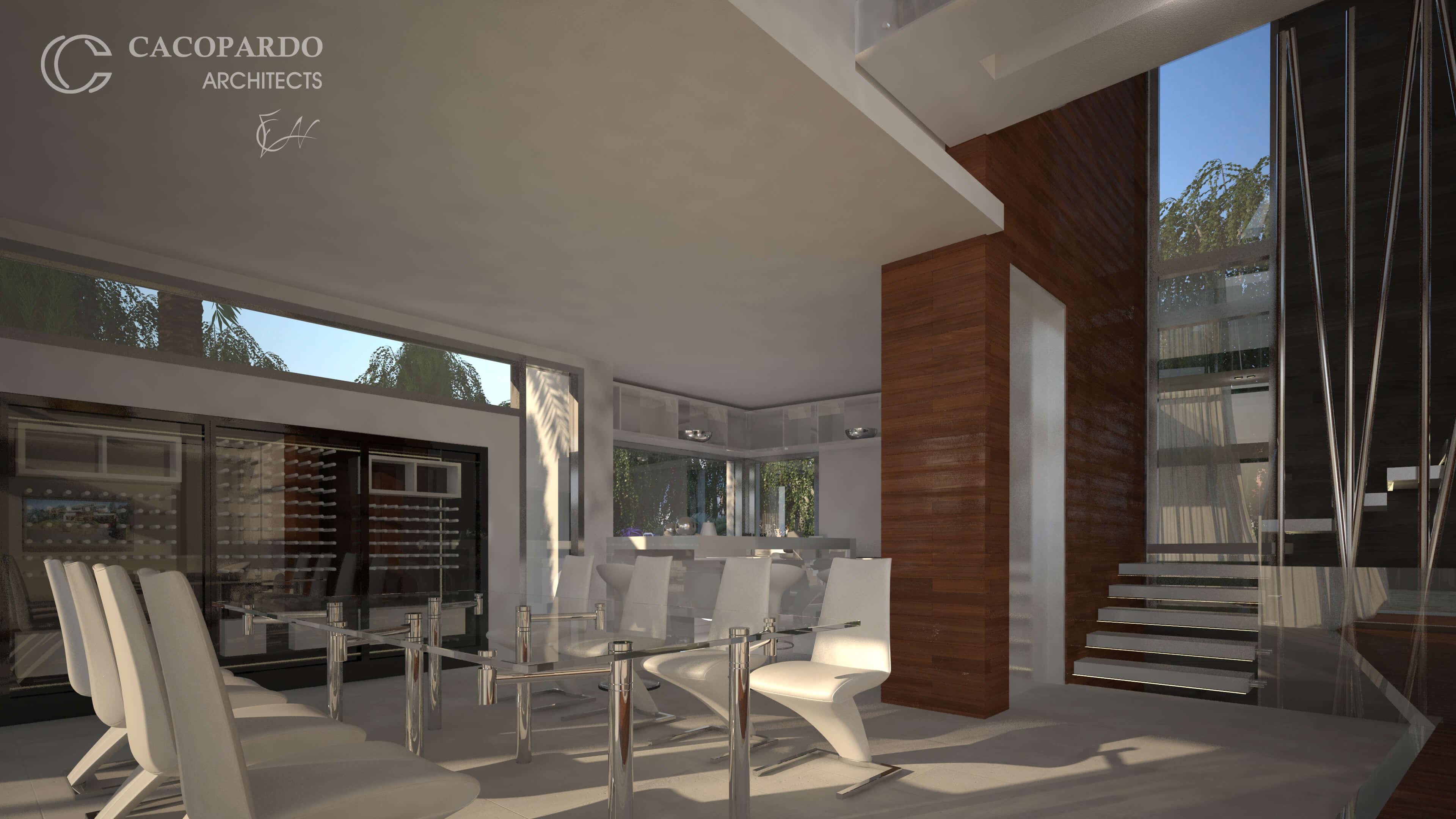 Vista del comedor-Infinitum House- Costa del Sol