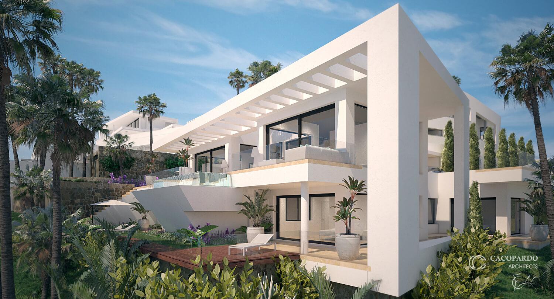 Villa 1- vista desde el sureste, La Cala de Mijas, Costa del Sol, Málaga